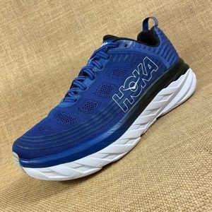 Hoka One One running shoes blue black bondi mens size 10.5